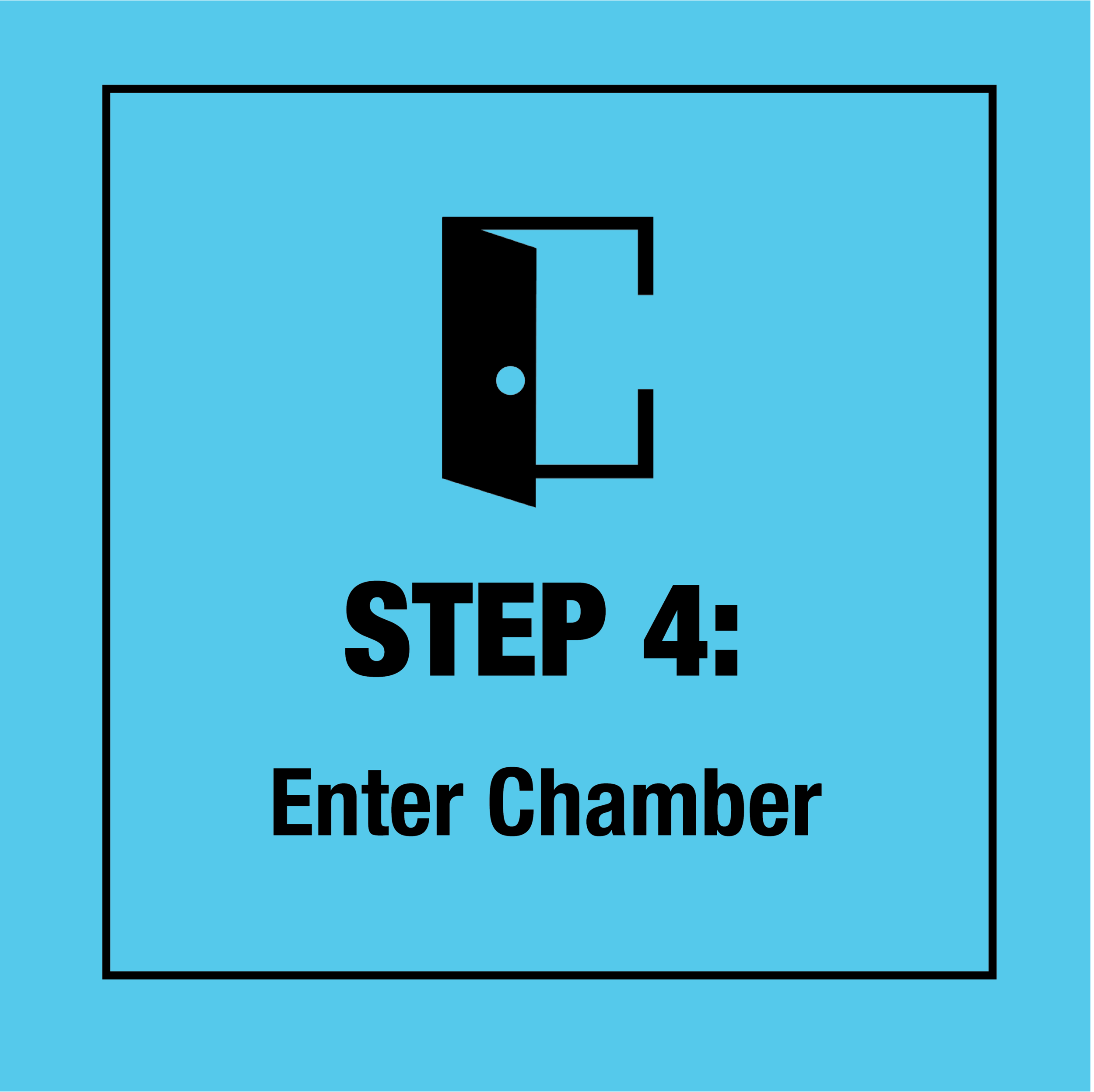 Enter the chamber, hand us your robe, and your three minutes start.