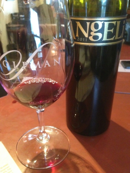 Stolpman Vineyards 2011 Sangio Degli Angeli  -If you want a wine to slap you in the face and then gently rock you to sleep, this is the Sangio for you. Deep intense red fruit, bold baking spices, and a savory finish hits hard up front but then melts in your mouth as it lingers on your palate.