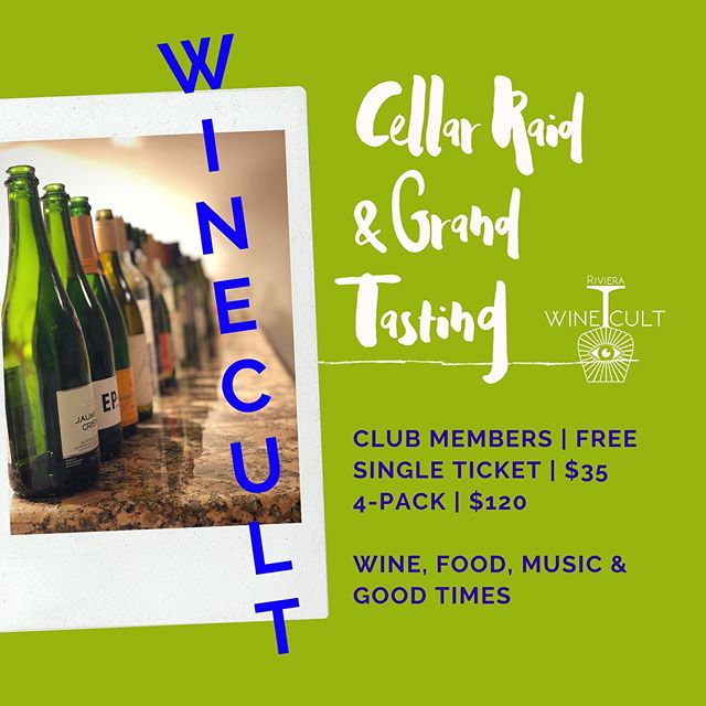 TICKET LINK IN BIO- Only 5 more days! If you have been curious about joining WINECULT now is your chance to taste the wines we have featured, meet some awesome winemakers, and purchase some badass wine. We hope to see you soon!