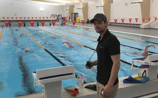 Tim Brazier at the new Wanaka pool.