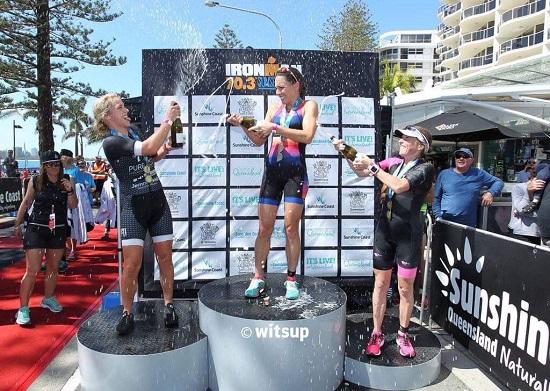 Hannah Wells 2nd place at IRONMAN 70.3 Sunshine Coast