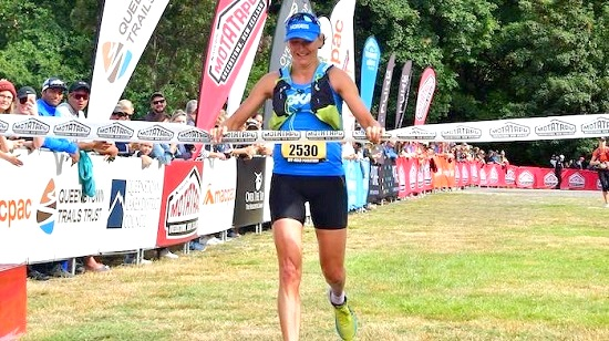 Laura winning the 2019 Motatapu Off-Road Marathon