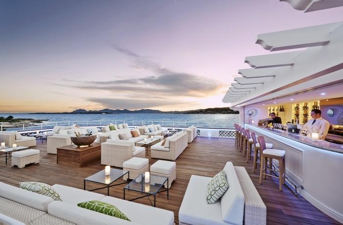 Champagne lounge at Hotel du Cap–Eden-Roc, French Riviera.