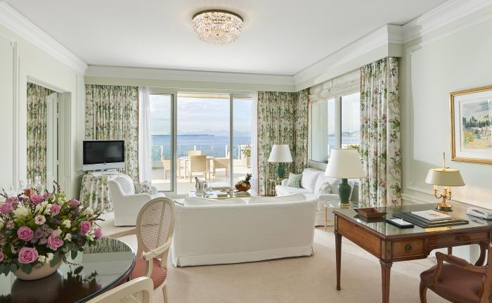 A suite at Hotel du Cap–Eden-Roc, French Riviera.