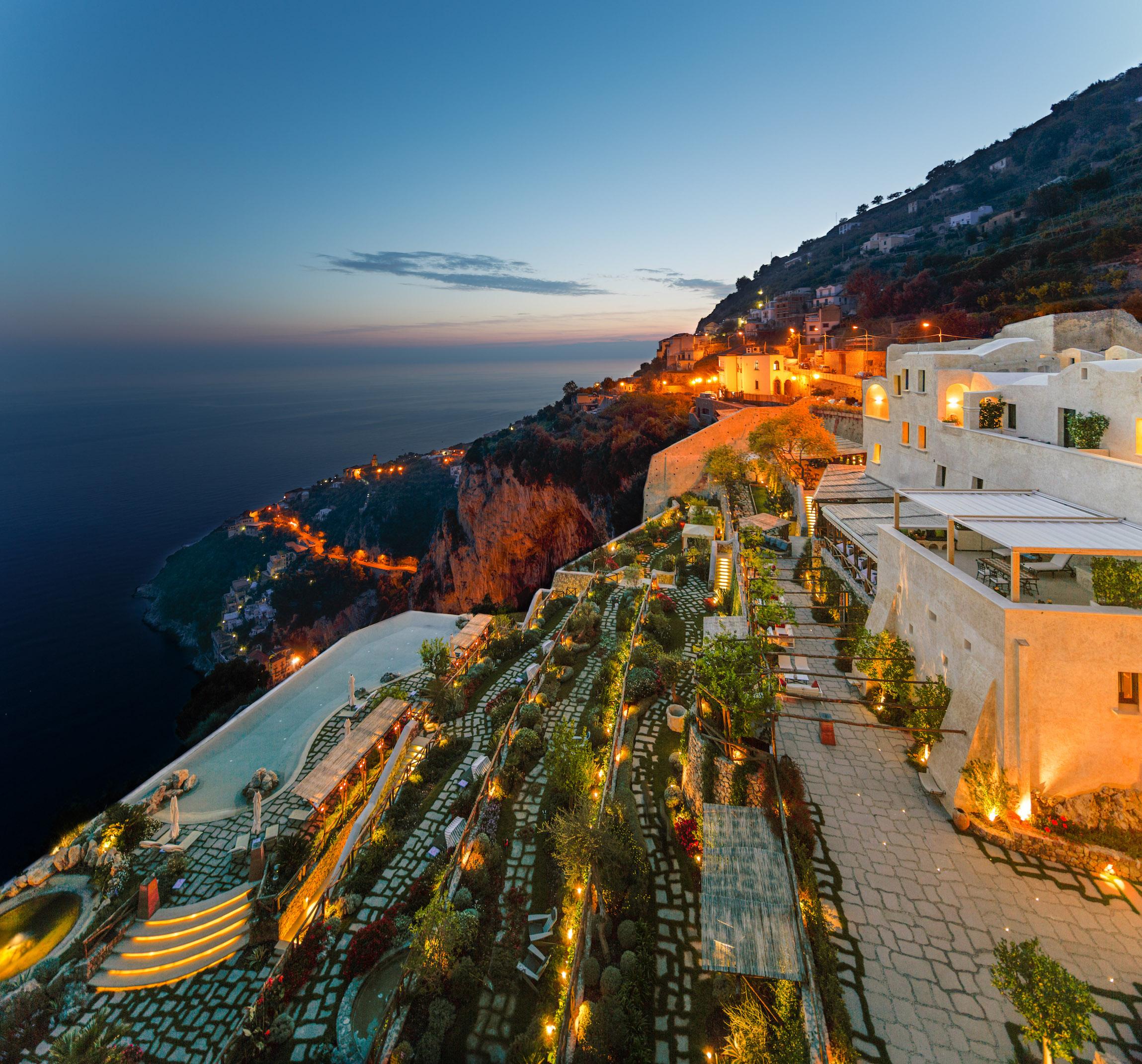Monastero Santa Rosa Hotel & Spa along the Amalfi Coast.