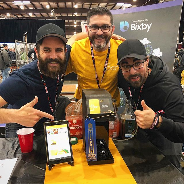 MyBar.io received yesterday EDITOR's CHOICE BLUE RIBBON at @makerfaire! :) Thanks #MFBA19 @makemagazine for rewarding Bar's team effort, we are so happy with our first experience with DIYBar.cc at #MakerFaire!  We love Maker Faire's community and #TheFutureWeMake!!! Just to avoid forgetting someone, thanks all and each of you for this awesome last week. We are looking forward to see you next Maker Faire :D  #Maker #DIYproject #DIYBar