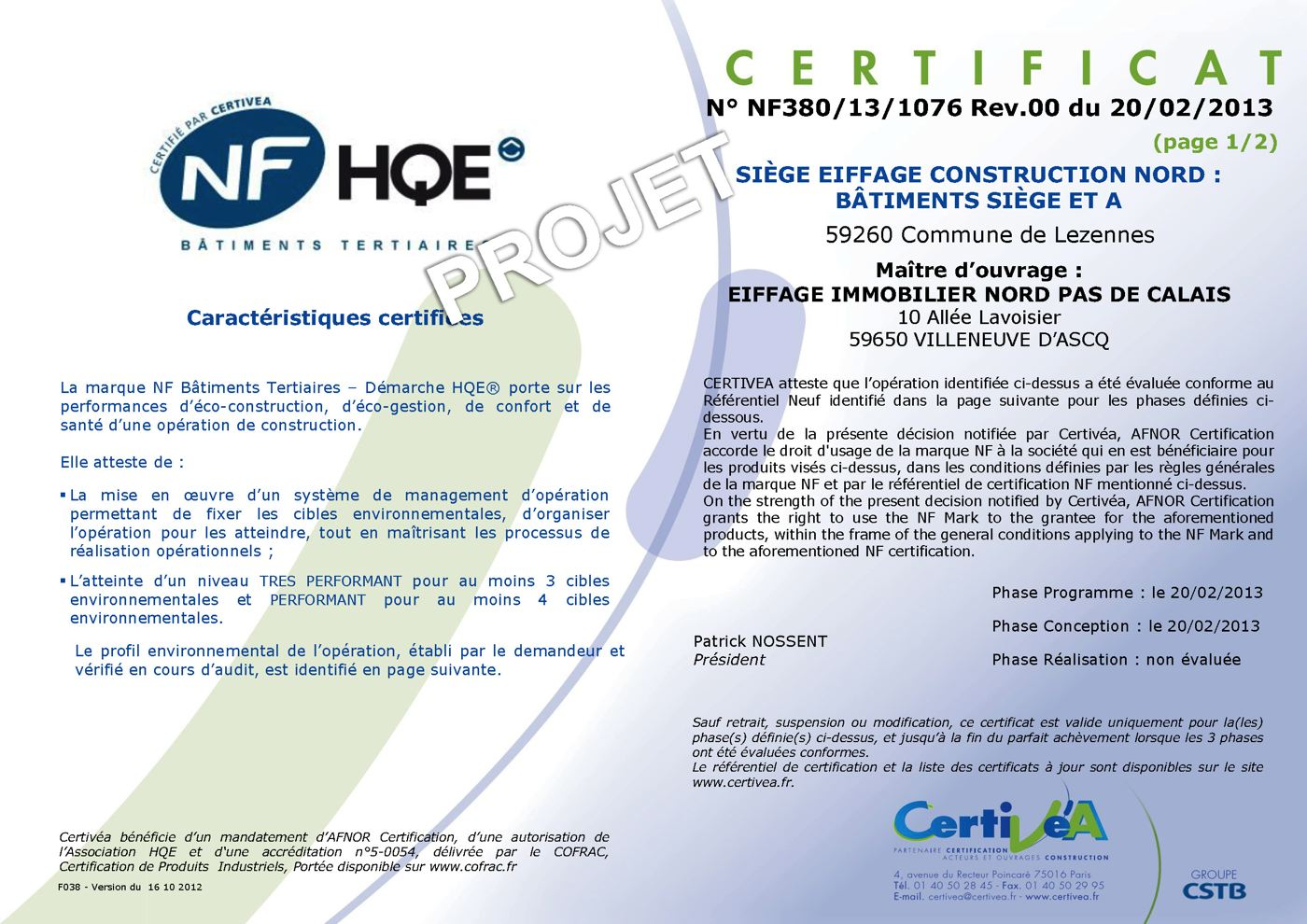 Eiffage siege nord_Certificat NF BT HQE__ PC_Page_1.jpg