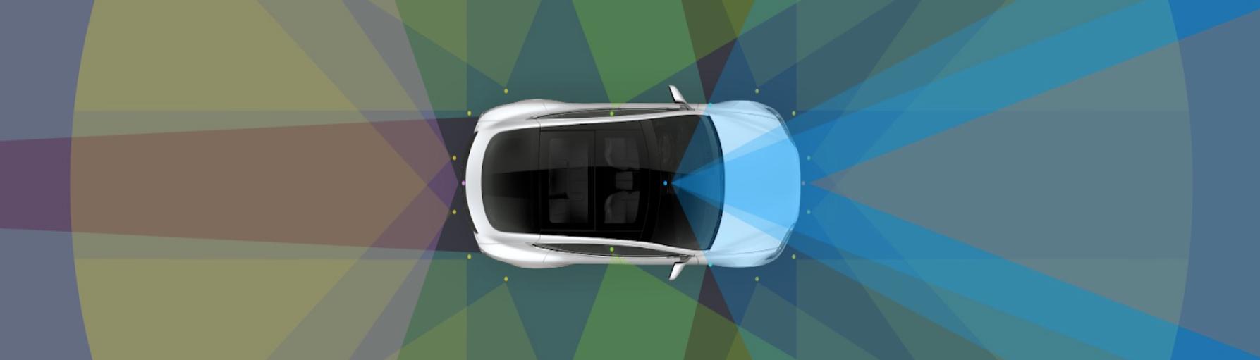 Tesla's Autopilot 2 Sensor Coverage