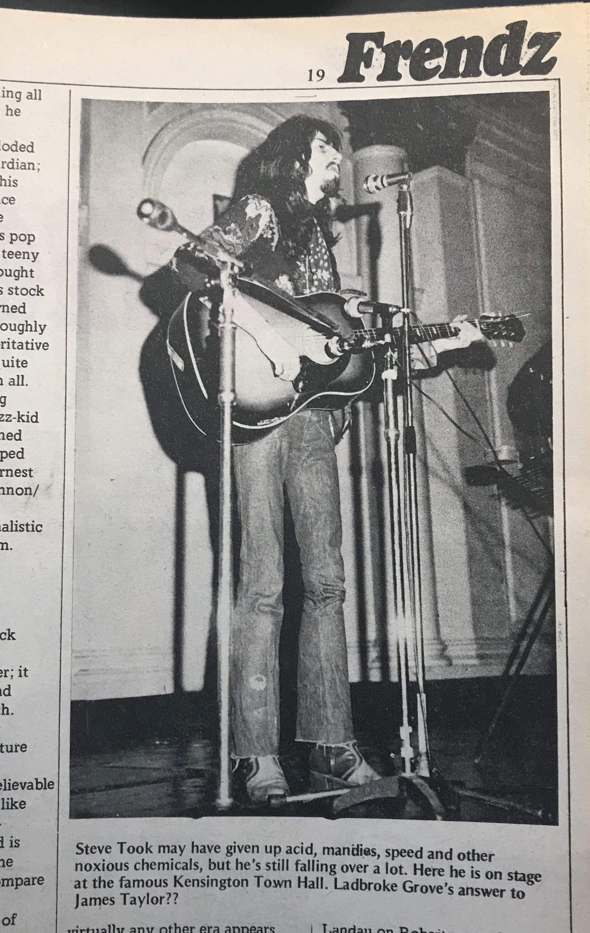 Falling over (again),  Frendz  #17 (December 23, 1971)