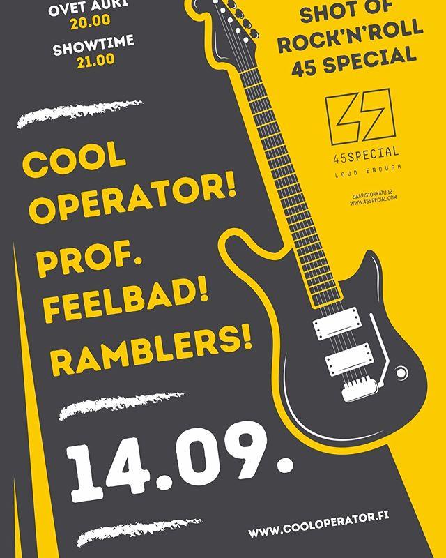 Todellinen Vintage-Rock-ilta 45:ssa! Pääesiintyjänä Ramblers!🔥🔥