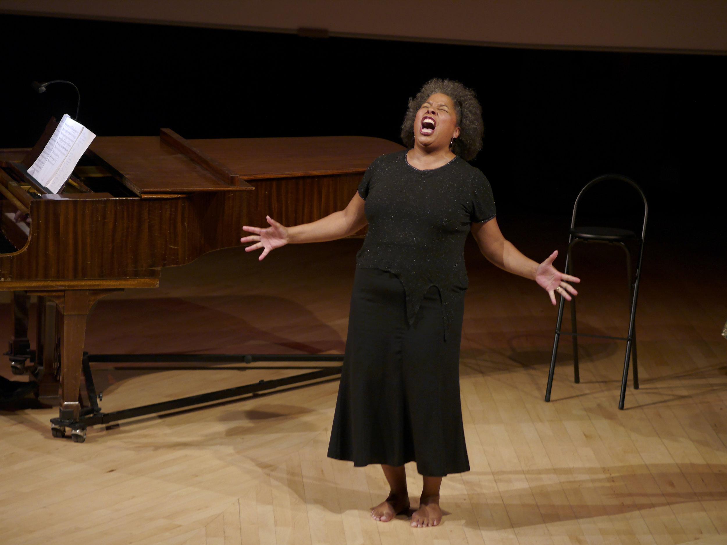 Andrea Baker, mezzo-soprano and creator of Sing Sistah Sing!