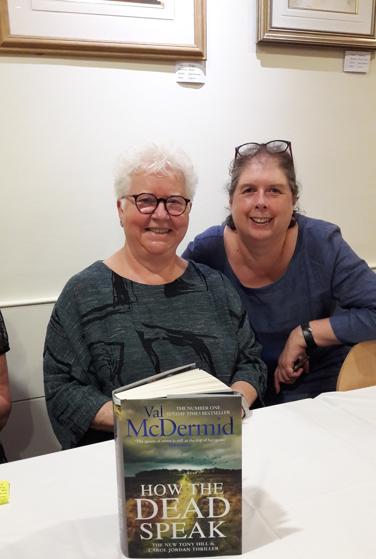 Val McDermid with producer Pauline Moore