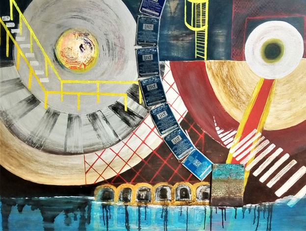 Aida Garton - 10.30am - 4.30pmOpen studio - abstract paintings