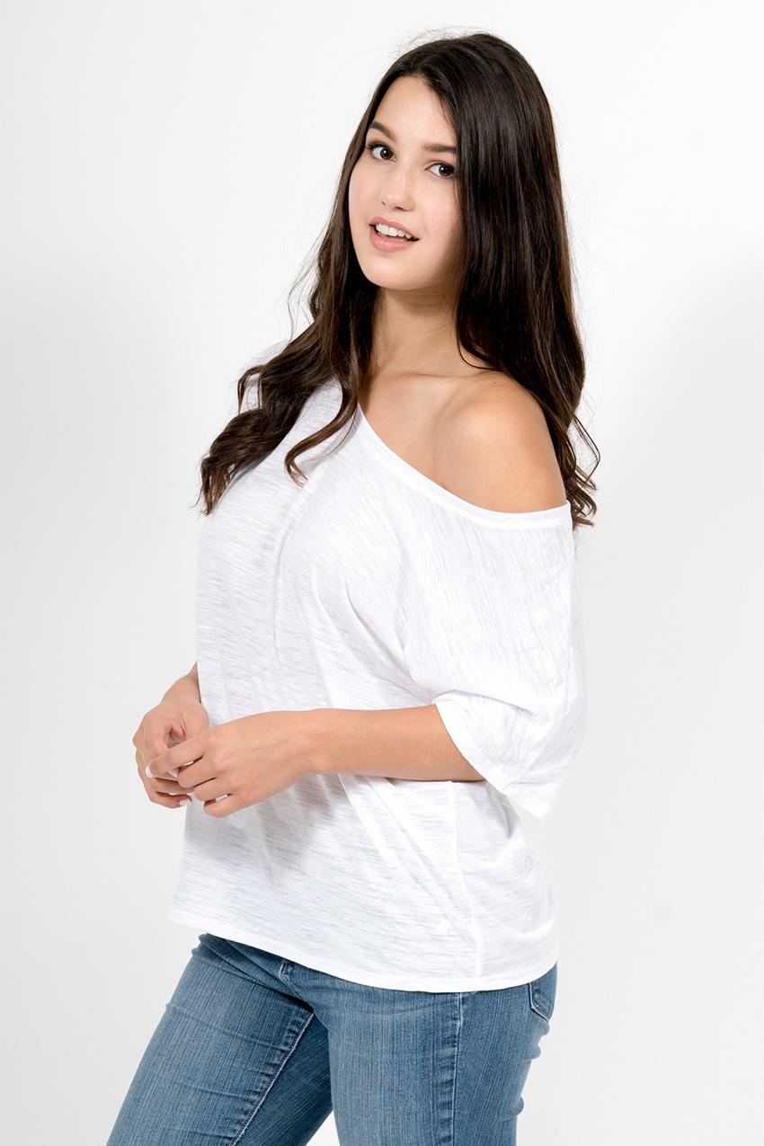 Custom Bella + Canvas 8816 t-shirt side