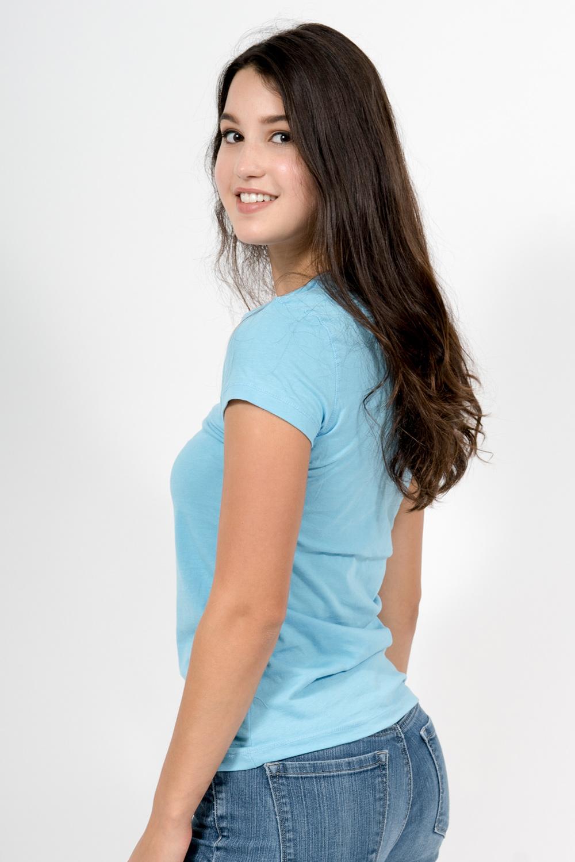 Custom Bella + Canvas b6005 t-shirt side