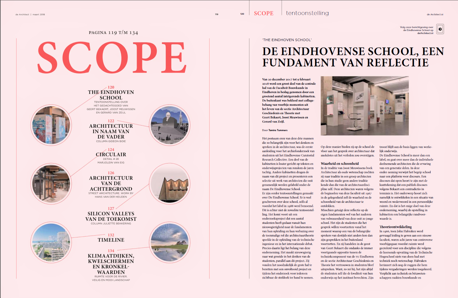 The Eindhoven School, a Foundation of Reflection - de Architect (February 2018)