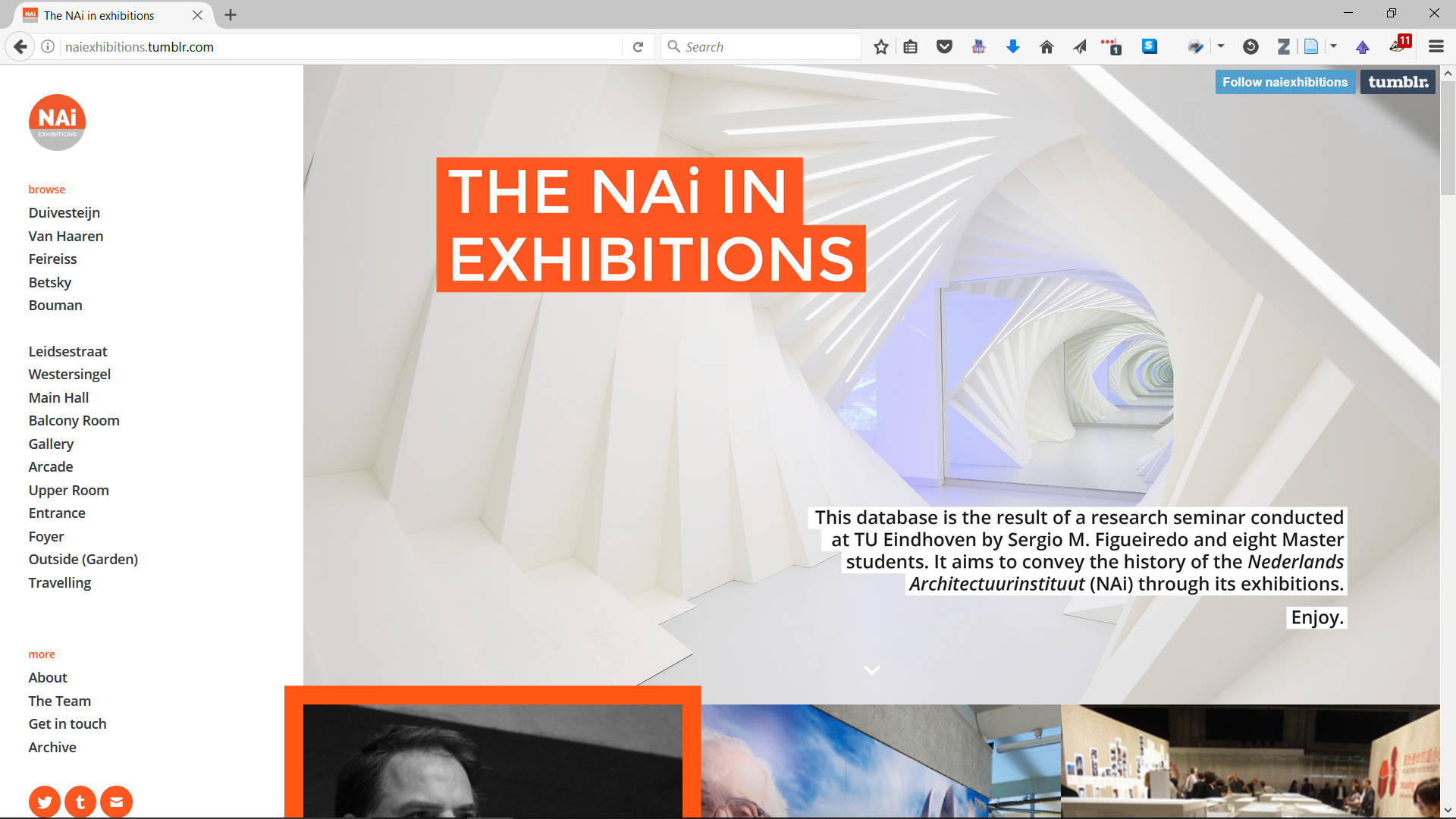 The Nai in Exhibitions - Digital Database