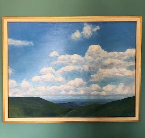 """Skyline Drive"" Painting - Donated by: Dave Keebler, Value: $400Gorgeous oil painting of the West Shenandoah Valley Allegheny Mountains is an original work by local artist Dave Keebler. The depth and colors are amazing and will be a gorgeous addition to any space."