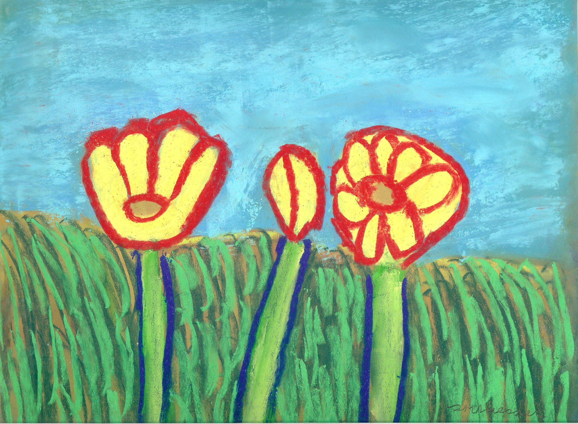 """Trois Fleurs"" Painting - Donated by: Sarah Raessler, Value: $165This 15X18 pastel chalk painting is an original work of art by local artist, Sarah Raessler. Sarah works solely with pastel chalk, loving the textures and mixing of colors. She has been creating with pastels since 2003."