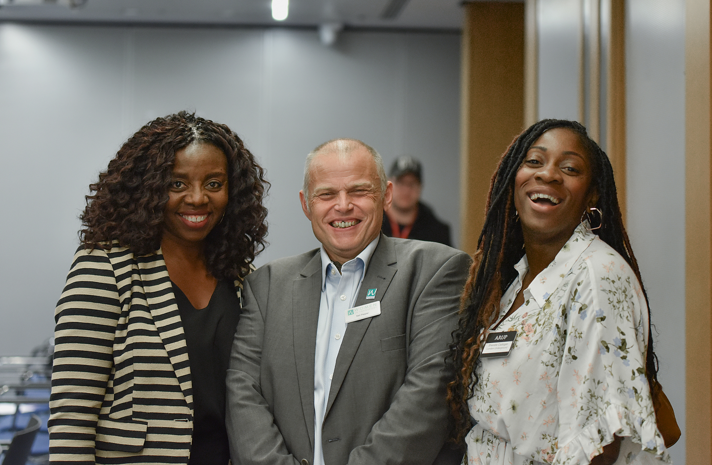 Neil Pepper (centre) at Women in Transport's Annual Mince Pies and Networking event
