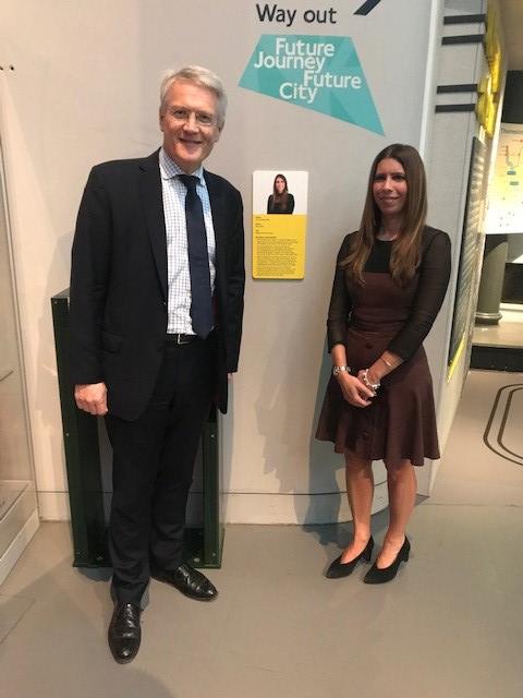 Anna Delvecchio and Rail Minster Andrew Jones