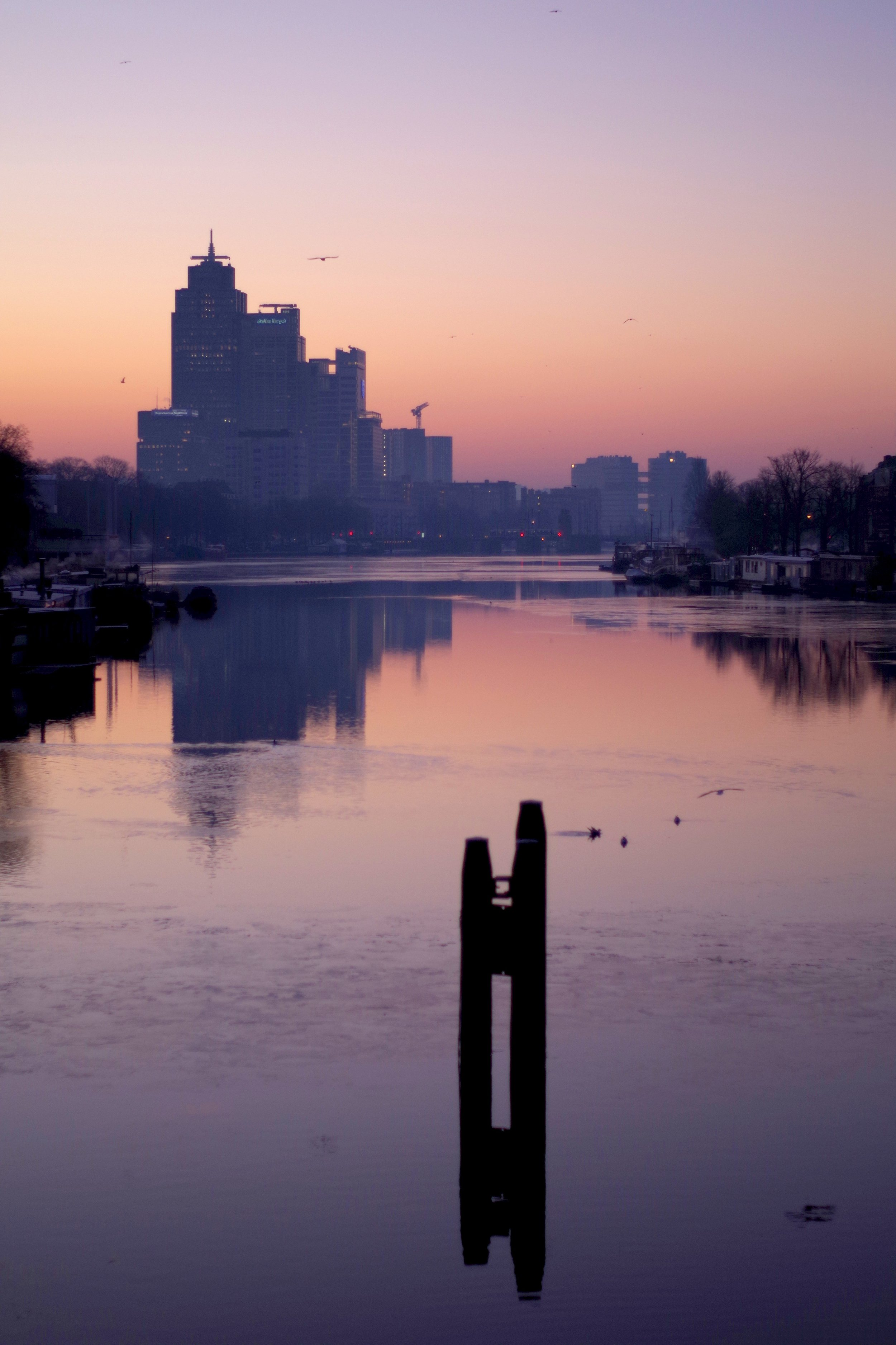 The Amstel river.