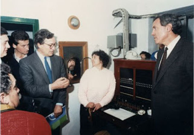Magdalena Martín, the day in which the last call was made from a manual switchboard (1988)