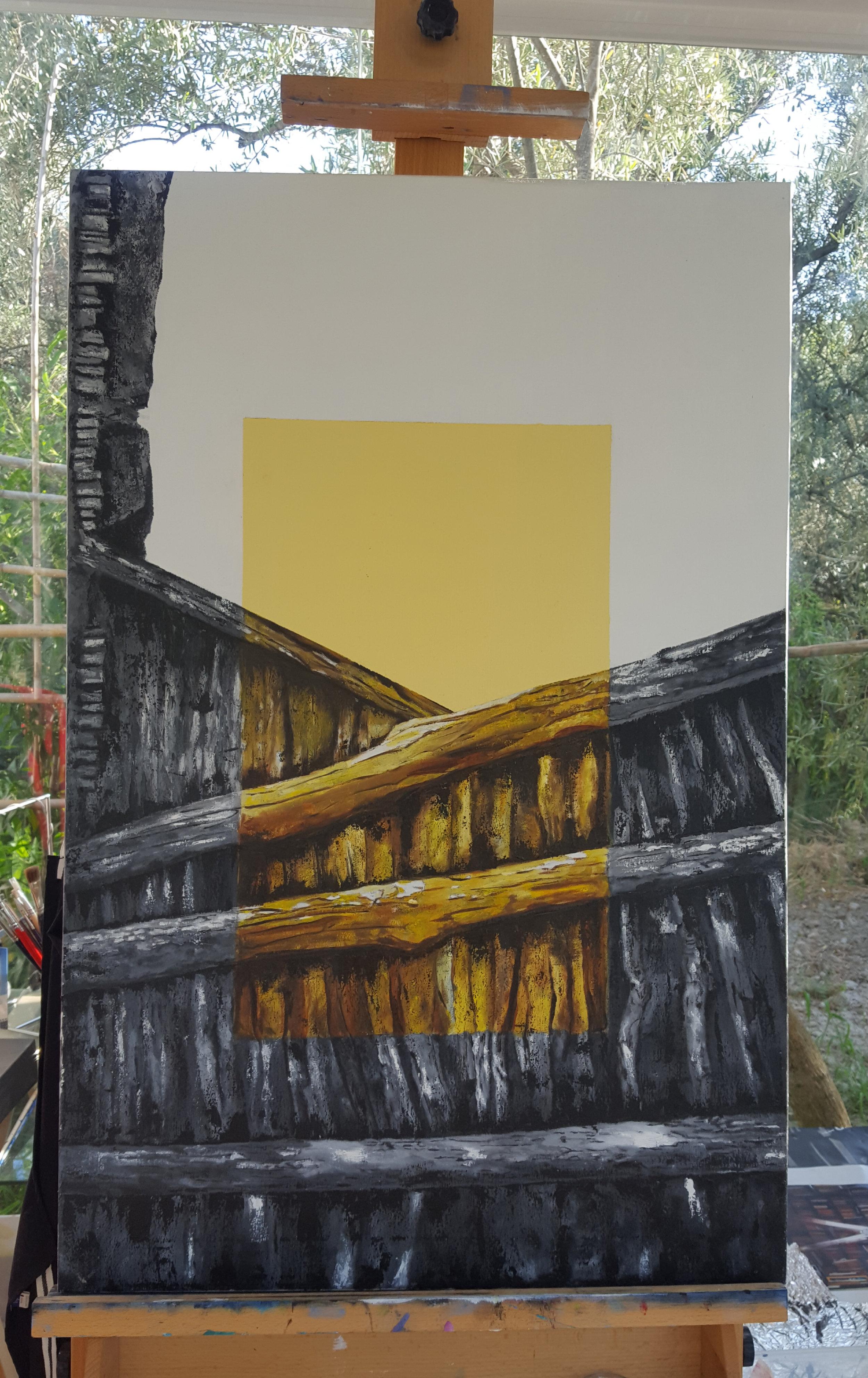"""Estío en amarillo"", Oil painting, 92cm x 60cm"