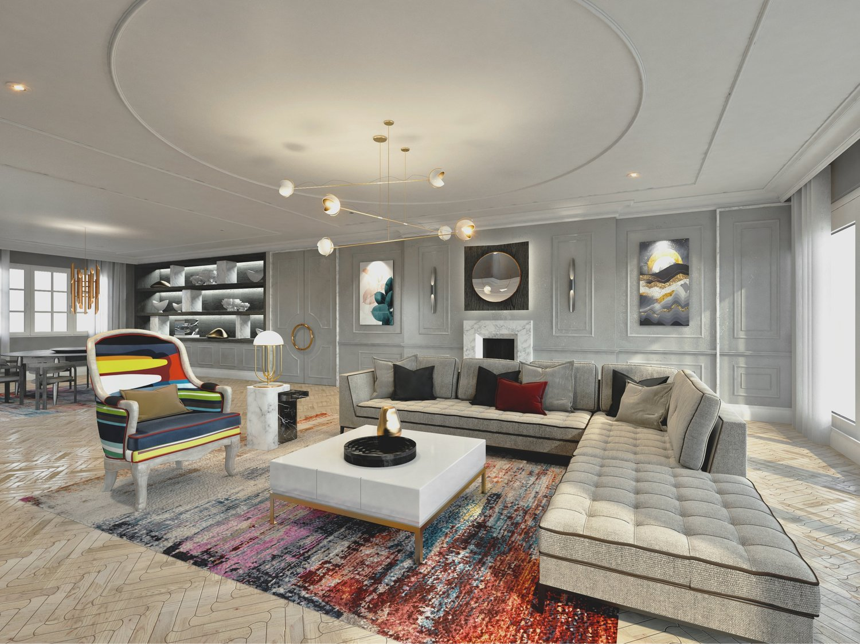 Modern Victorian Living Room Sketchlab