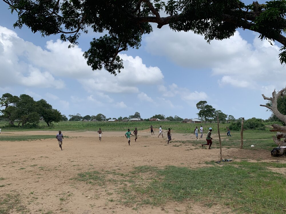 Arnold returned to his neighborhood football pitch in Malindi