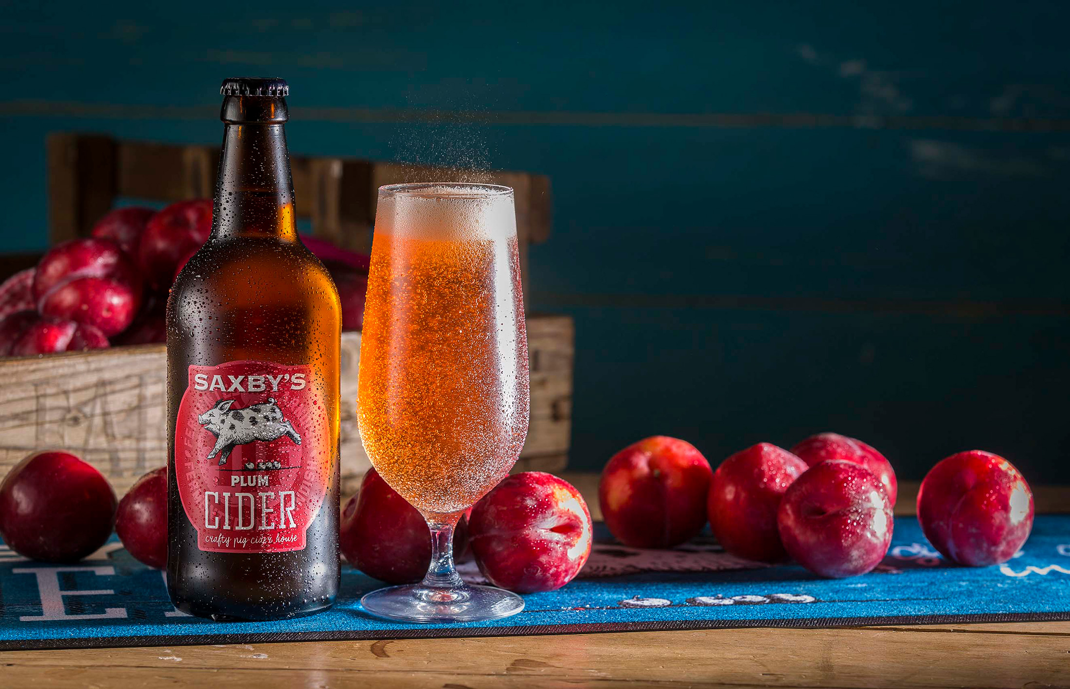 """""""A wonderful garnet colour. This has sweet apple and caramel notes on the nose, and the apples come through on the nose with a well-judged hint of plummy stone fruit on the finish. This tastes honest and clean and bright. A well made CIDER."""" - 2019 Great Taste Judge's comments about Saxby's Plum Cider"""