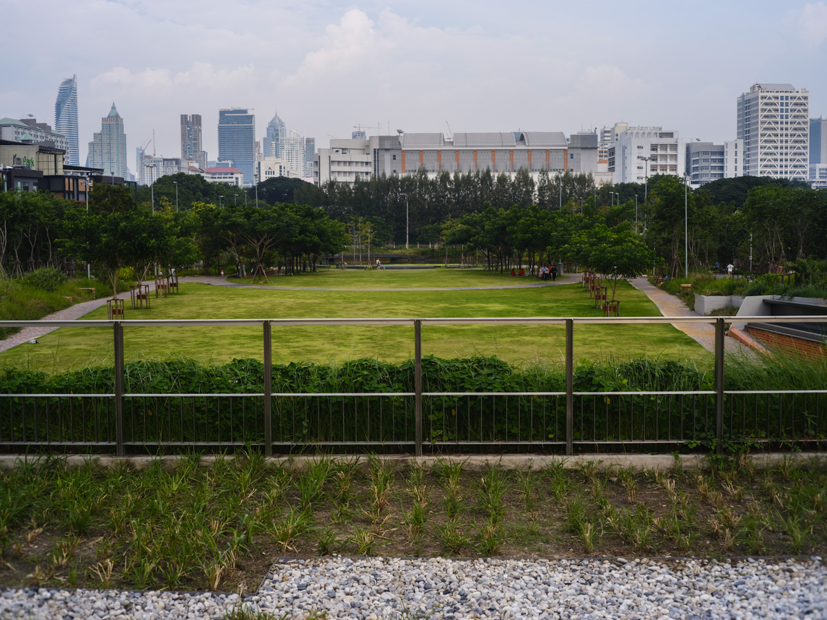 But in recent years the government and private organisations have initiated a series of projects to help combat the flooding. One such project is the Centennial Park at Chulalongkorn University, which can store an impressive amount of water during rainfall and releasing it slowly after the rain.