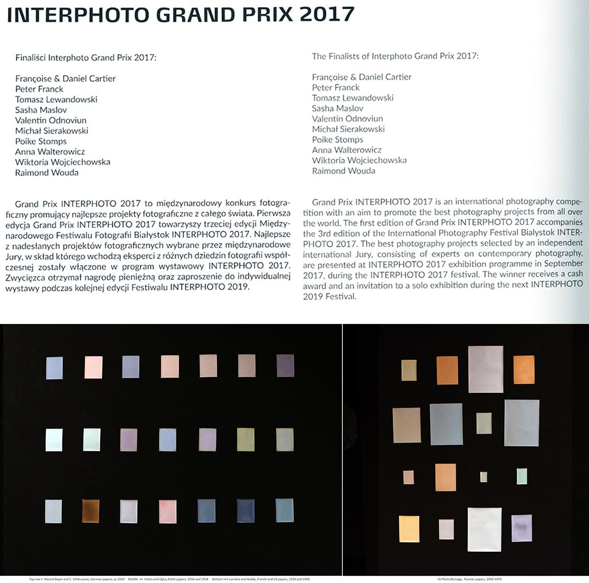 Bialystok Poland, First Interphoto Grand Prix 2017, F&D finalists.