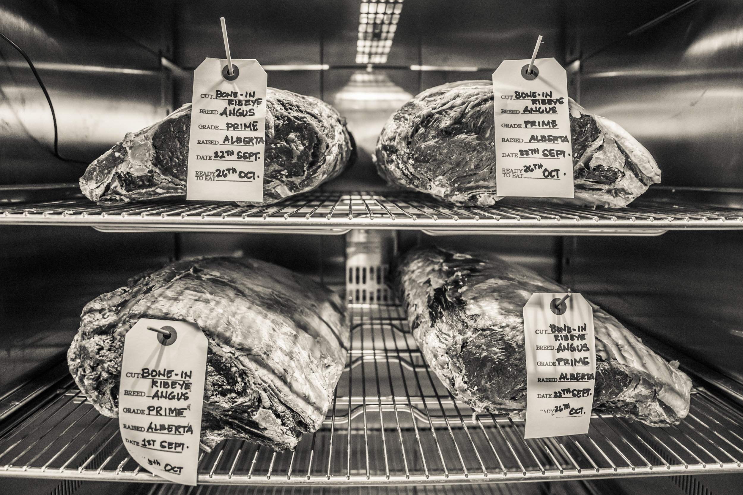 Chuck's steakhouse dry ageing