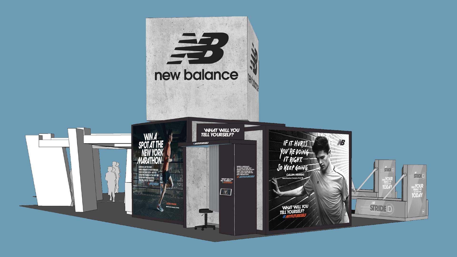 London Marathon stand art direction & design
