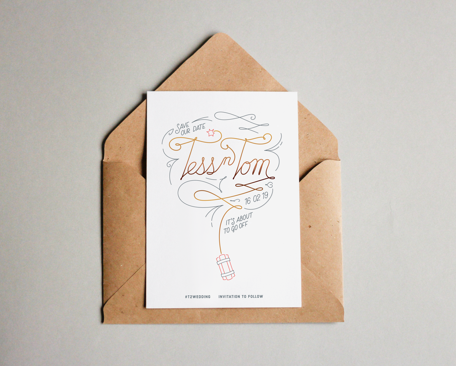 Wedding invitation hand-lettering & design