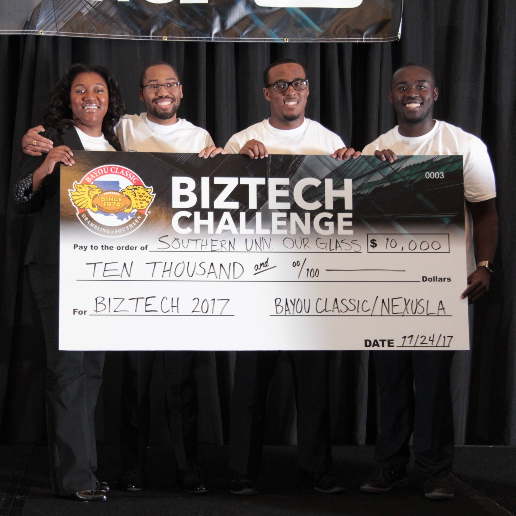 2017 Challenge Winners with their prize money