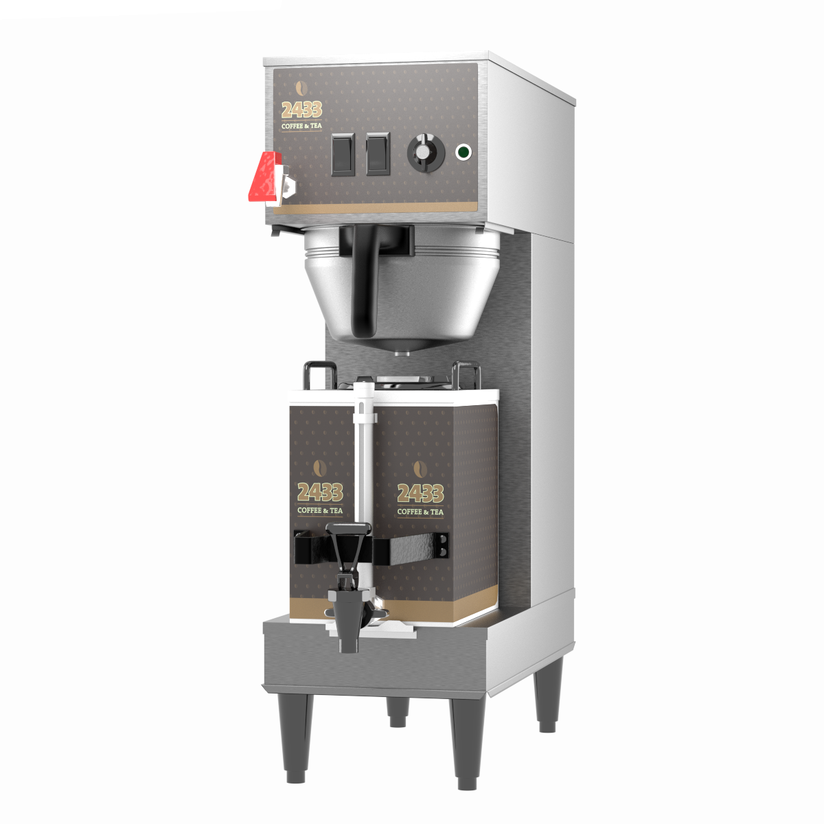 Equipment Graphics - Custom printed equipment graphics are an essential part of any Point-Of-Purchase coffee program. Equipment includes airpots, urns, servers and brewers.