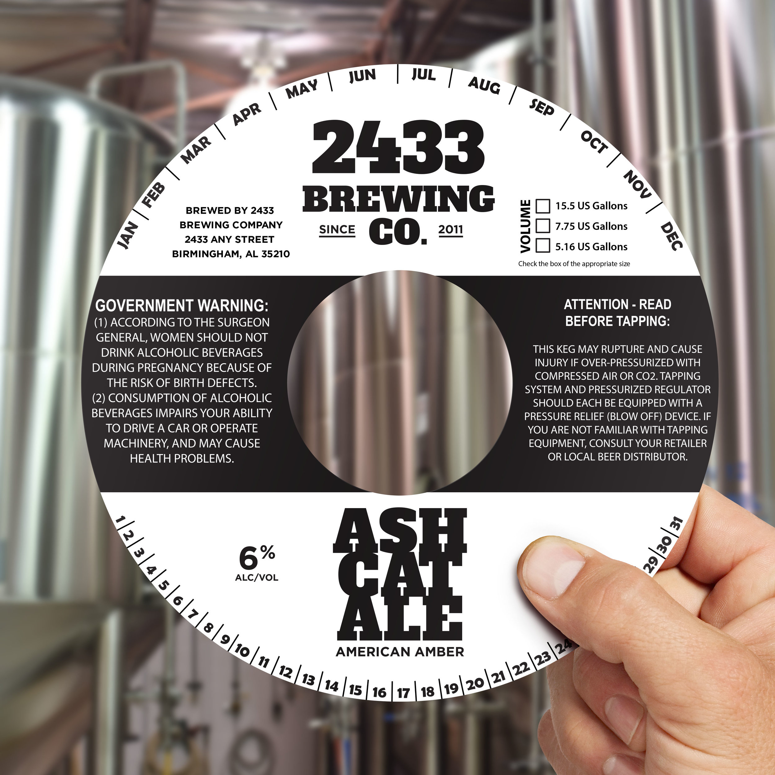 Craft Beer Print - We offer the print that you need for your operation, from keg collars to bottle, crowler, can and tap handle labels, wall/window/floor graphics and a wide variety of custom printed decals.