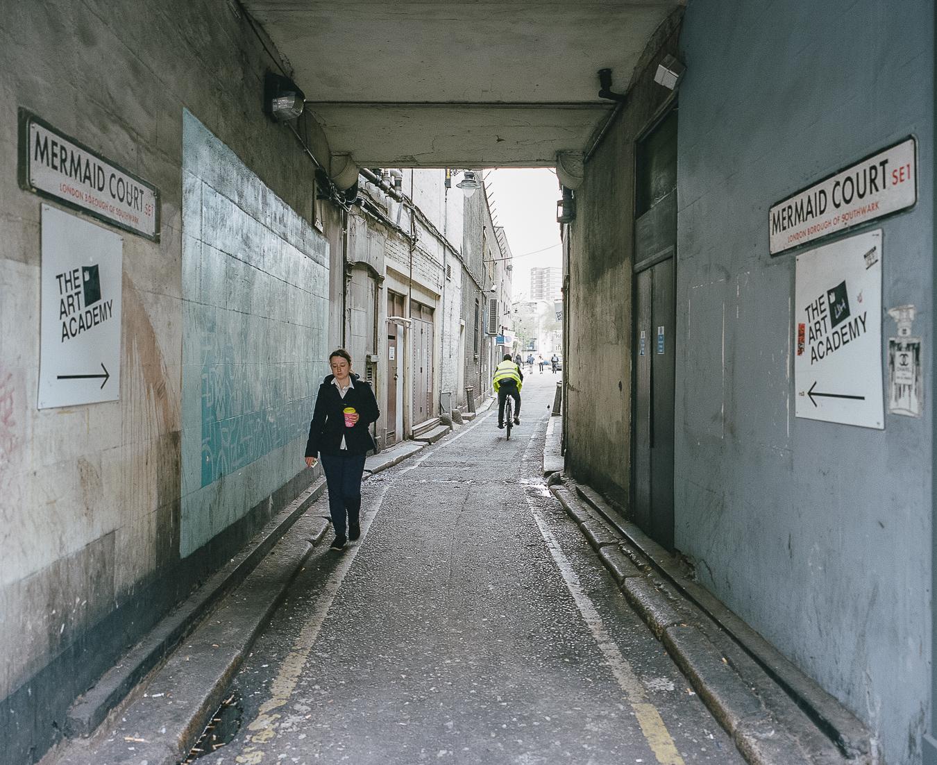 Alleyway to Theodore's studio