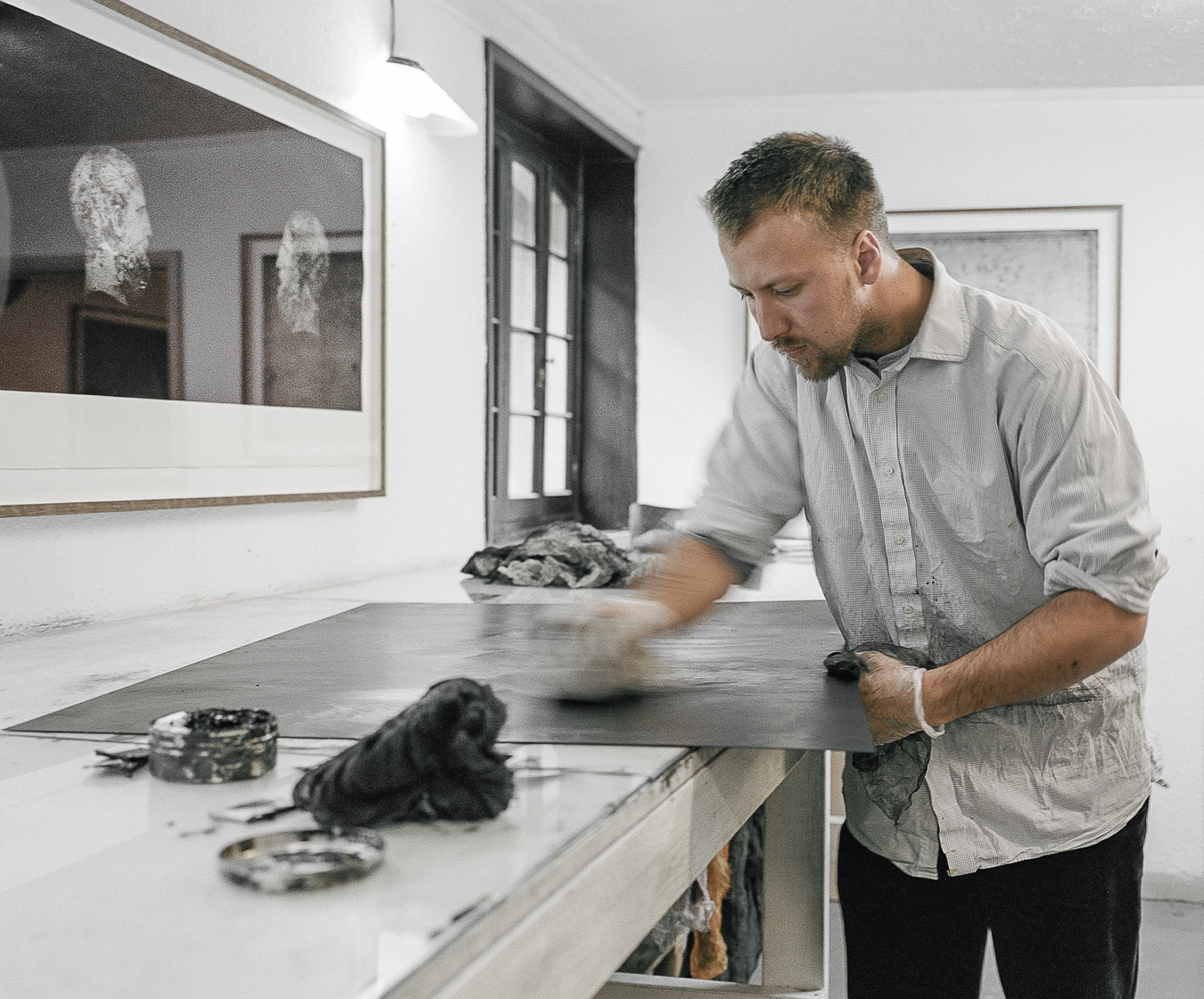 Theodore Ereira-Guyer at work