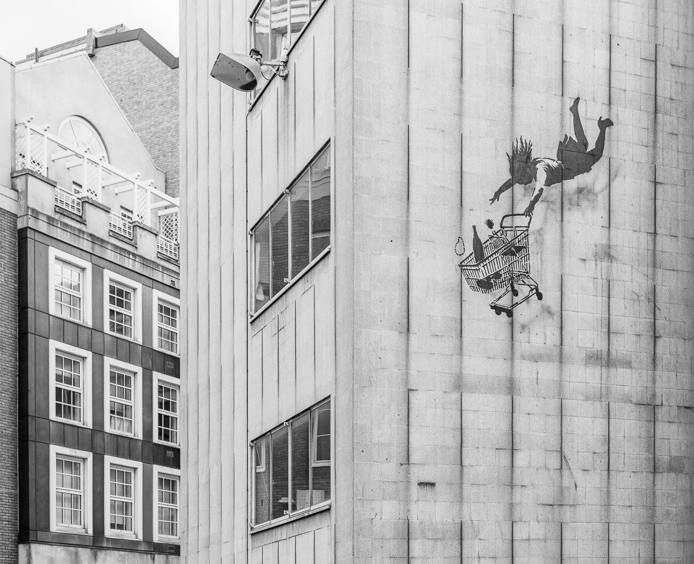 Banksy's 'Shop Until You Drop', Bruton Street, London - ARTVISIT