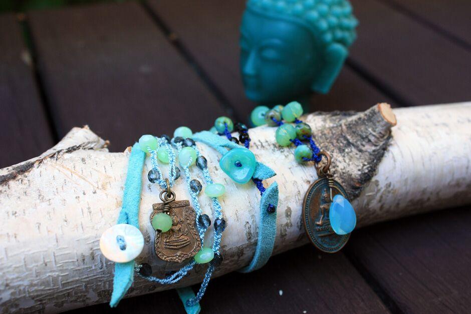 GLITR Buddha necklaces