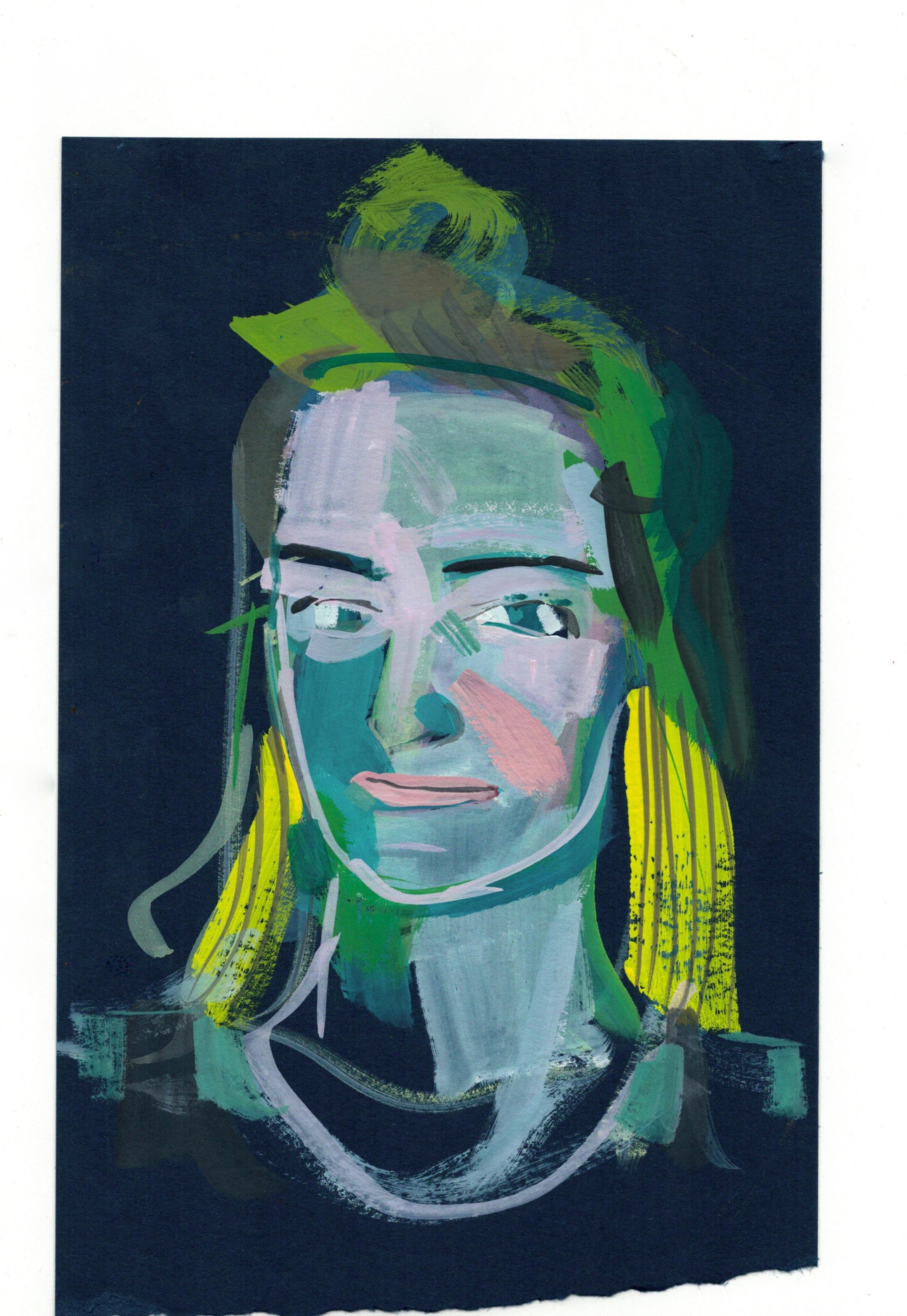 NOEL DANFORTH Portrait by Lisa Luck, artist and illustrator  @daughtersandsuns