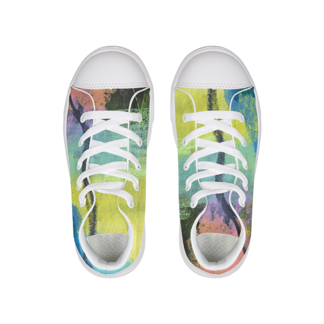 Kids Primary Lace-Up High Tops
