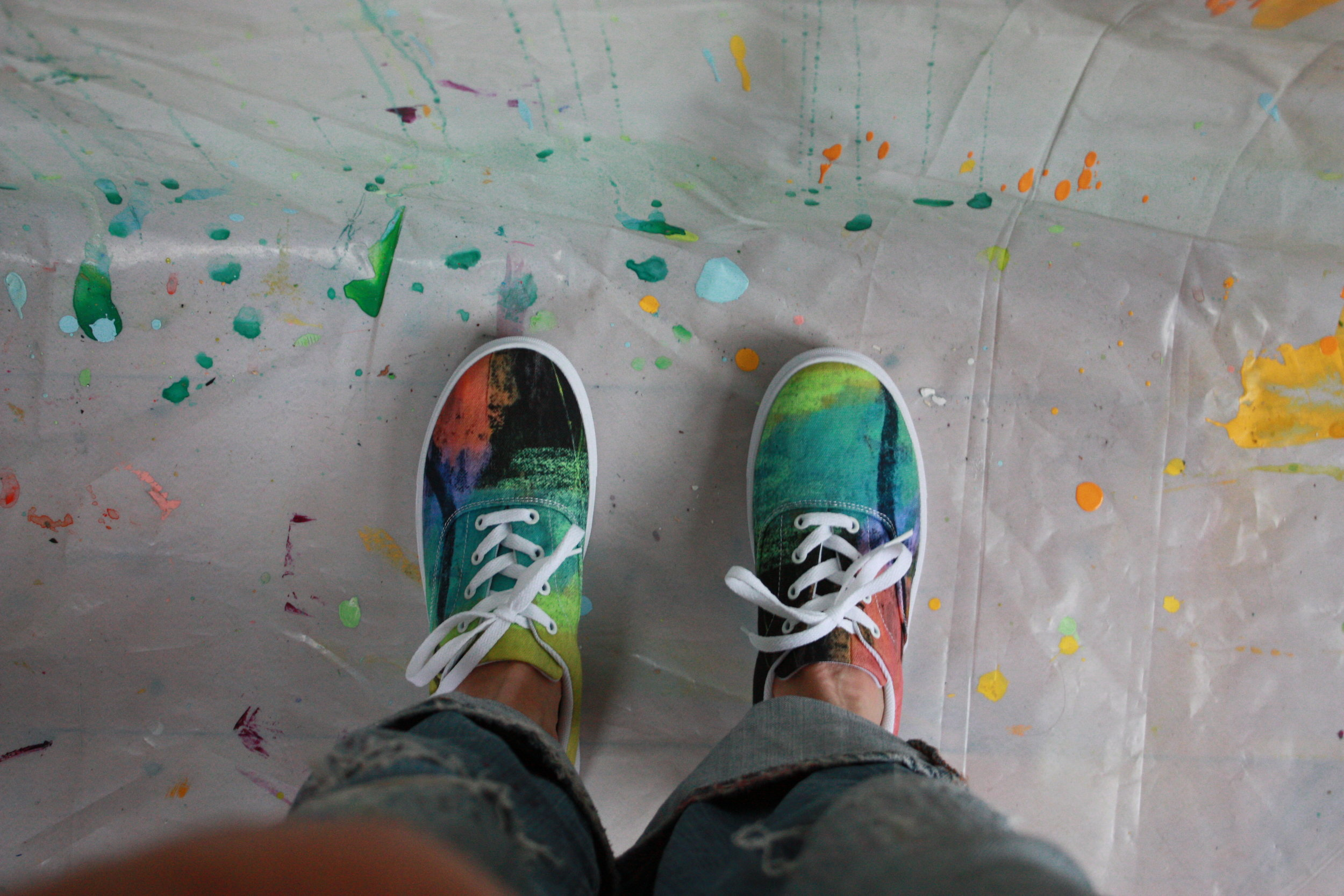 Looking forward to getting back in flow of painting. New studio sneakers to get the ball rolling.