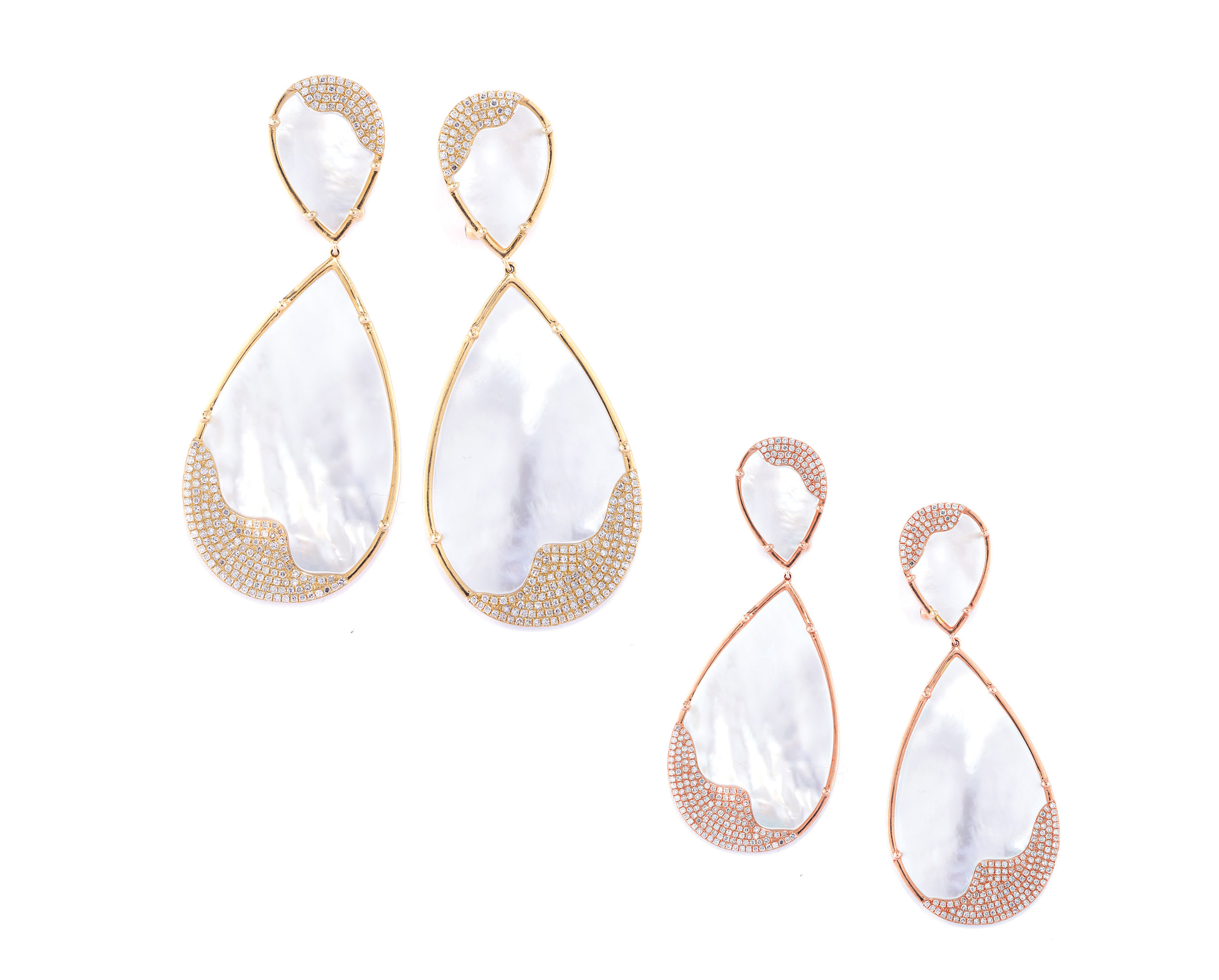 Mia Luna Classic Drop Earrings - The cornerstone of the collection, these chic drop earrings move gracefully capturing an elegant mood suitable for both day or night. Contemporary and stylish, this is the PATRICIA ROBALINO piece every woman wants to own. Available in the classic size or in a smaller version.