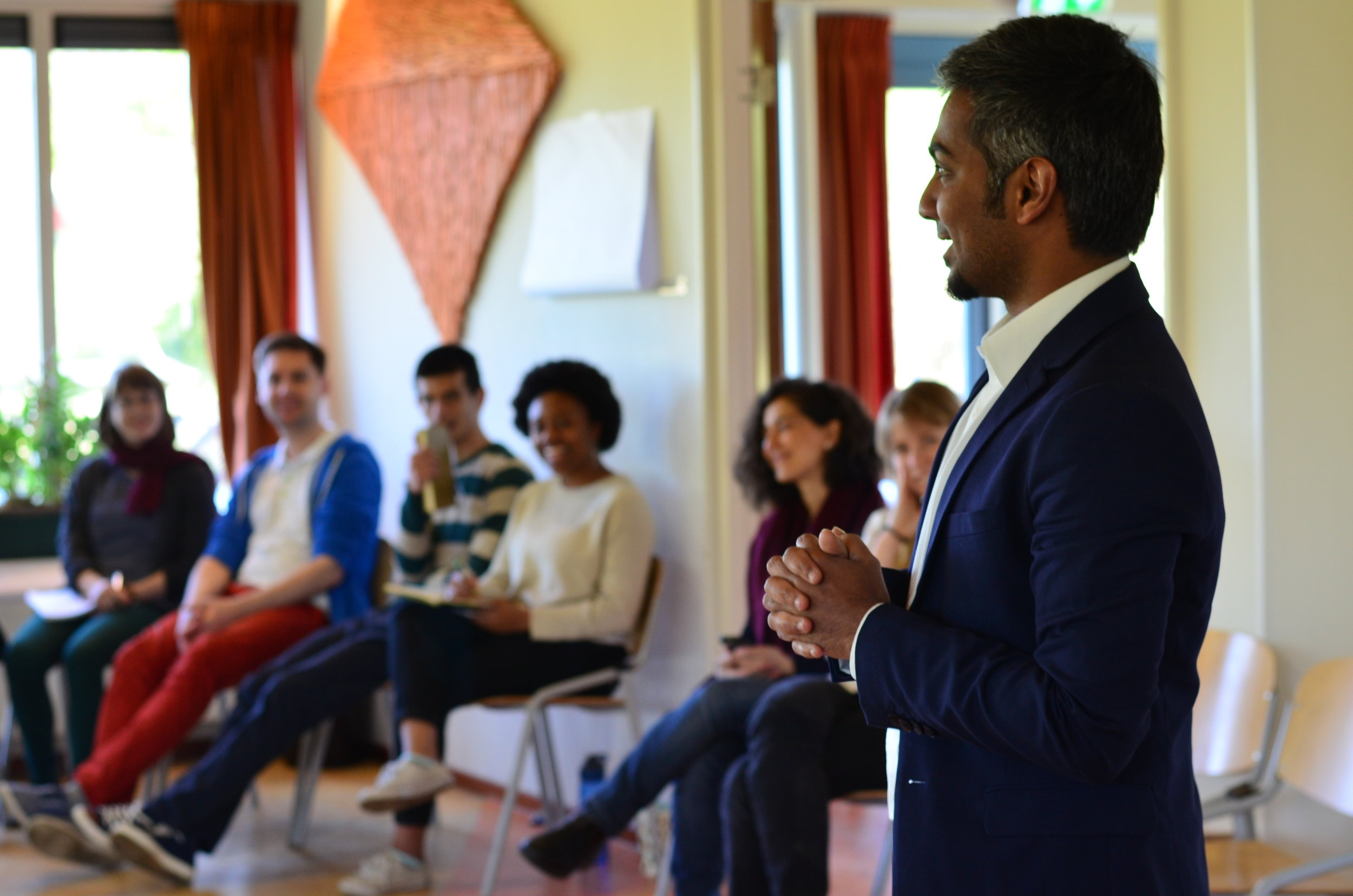 Green Insights' CEO - Ajay, inspiring young entrepreneurs at the 'Waterlution Innovation Summit 2017' in Wijk Aan Zee, Netherlands