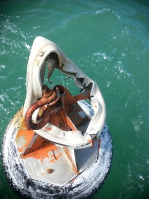 Damage to the North Bowyer UCBC Mooring Buoy. -