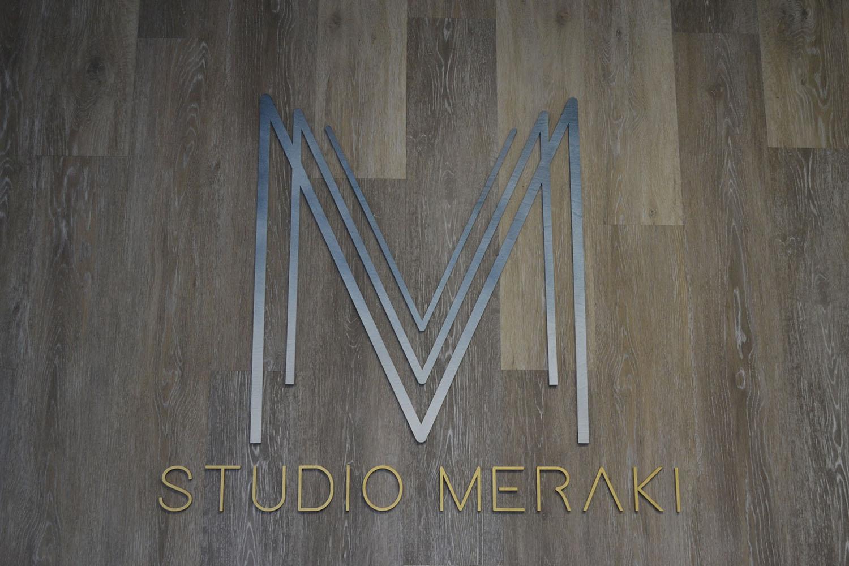 Signage inside the studio